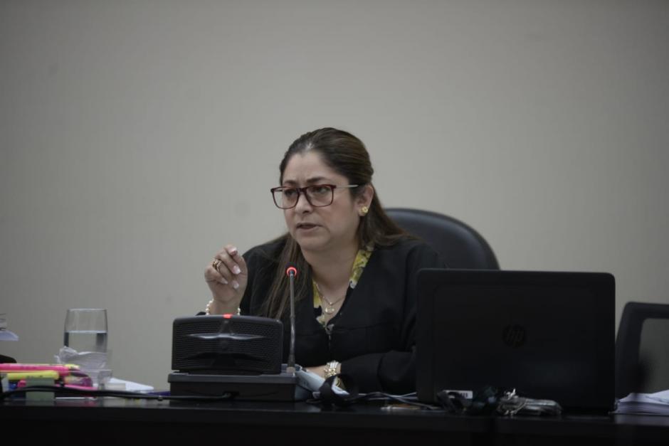 La jueza, Claudette Domgínguez, expulsó a la mandataria de la Procuraduría General de la Nación. (Foto: Wilder López/Soy502)