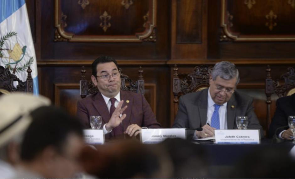 El presidente Jimmy Morales participó en la última reunión de este año del Conadur. (Foto: Wilder López/Soy502)