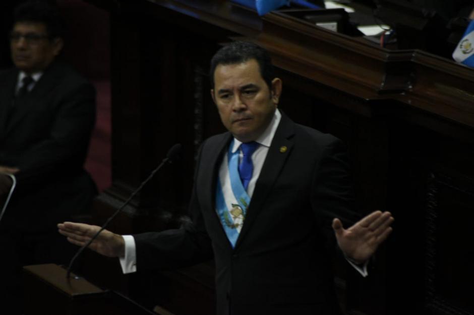 """Jimmy Morales pidió perdón por """"todas las ofensas"""". (Foto: Wilder López/Soy502)"""