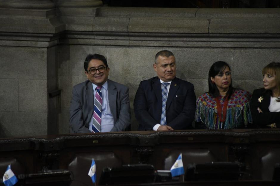 El PDH coincidió con el presidente Jimmy Morales en la sesión solemne del Congreso de este miércoles. (Foto: Wilder López/Soy502)