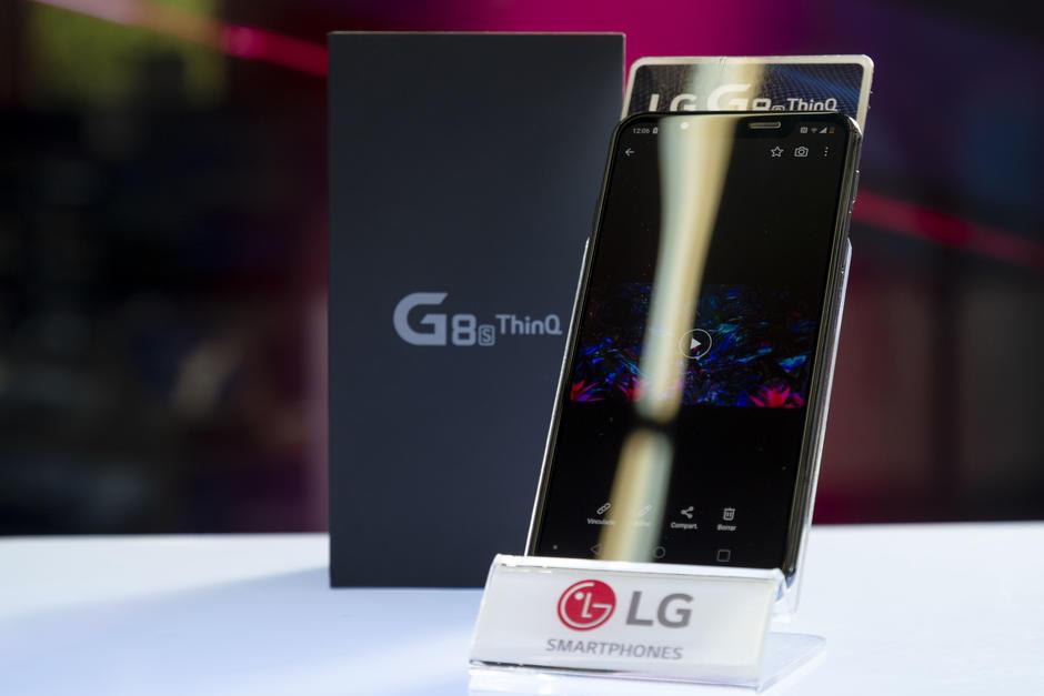 El nuevo LG G8S es el primer dispositivo que cuenta con lector de venas de las manos. (Foto: George Rojas/Soy502)