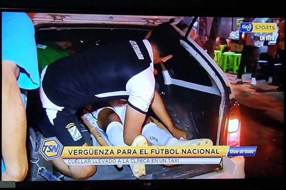Futbolista sufrió una fractura, no había ambulancia y fue trasladado en taxi