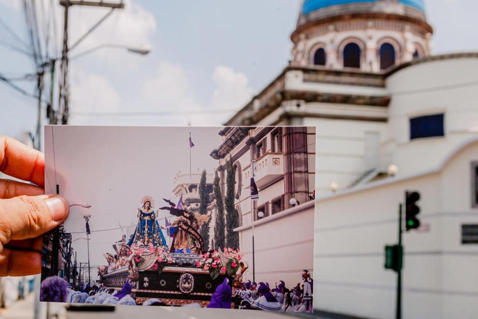 Así fue el paso de la consagrada imagen de la Virgen de Dolores. (Foto: Kevin Rustrián-Víctor González y Wilder Méndez)