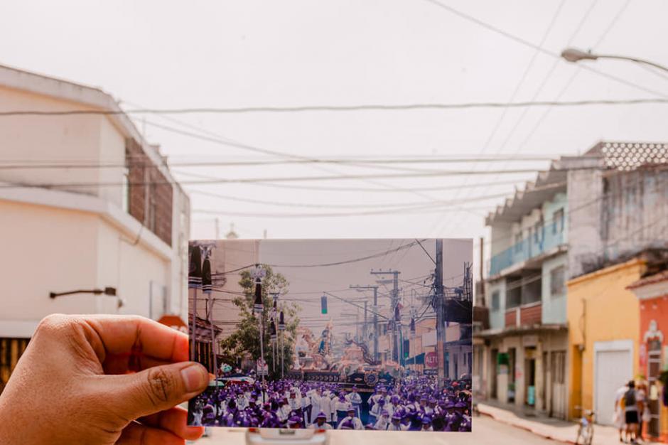 Su paso en las calles de la zona 1. (Foto: Kevin Rustrián-Víctor González y Wilder Méndez)