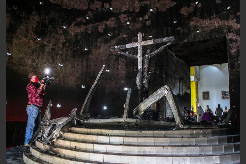 El atentado se produjo el viernes en la Catedral de Managua. (Foto: AFP)