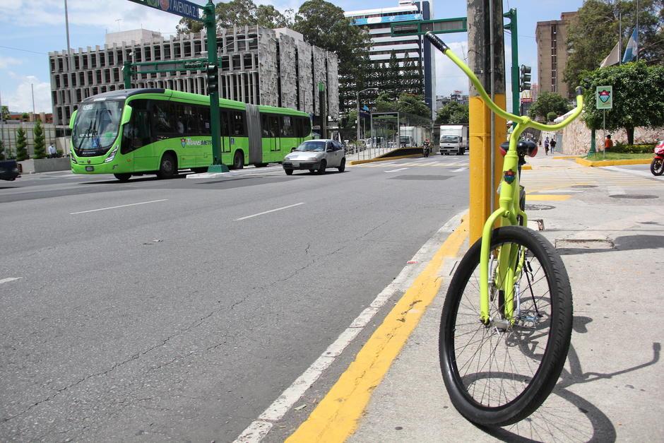 El proyecto de bicicletas busca complementar el servicio de Transmetro en el centro de la ciudad. (Foto: Fredy Hernández/Soy502)