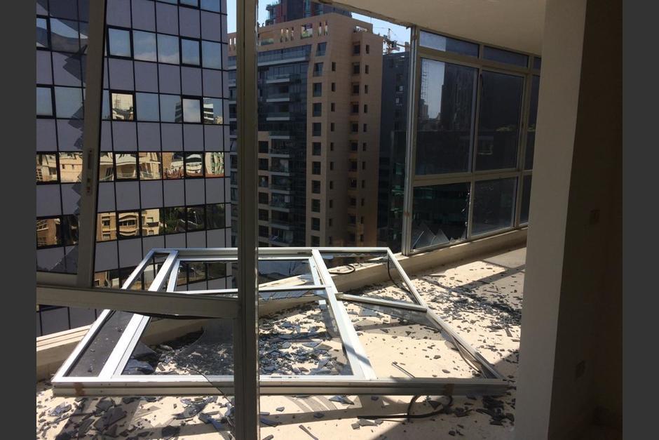 """El Consulado """"Honorario"""" en Beirut quedó gravemente afectado después de la explosión. (Foto: Cancillería)"""