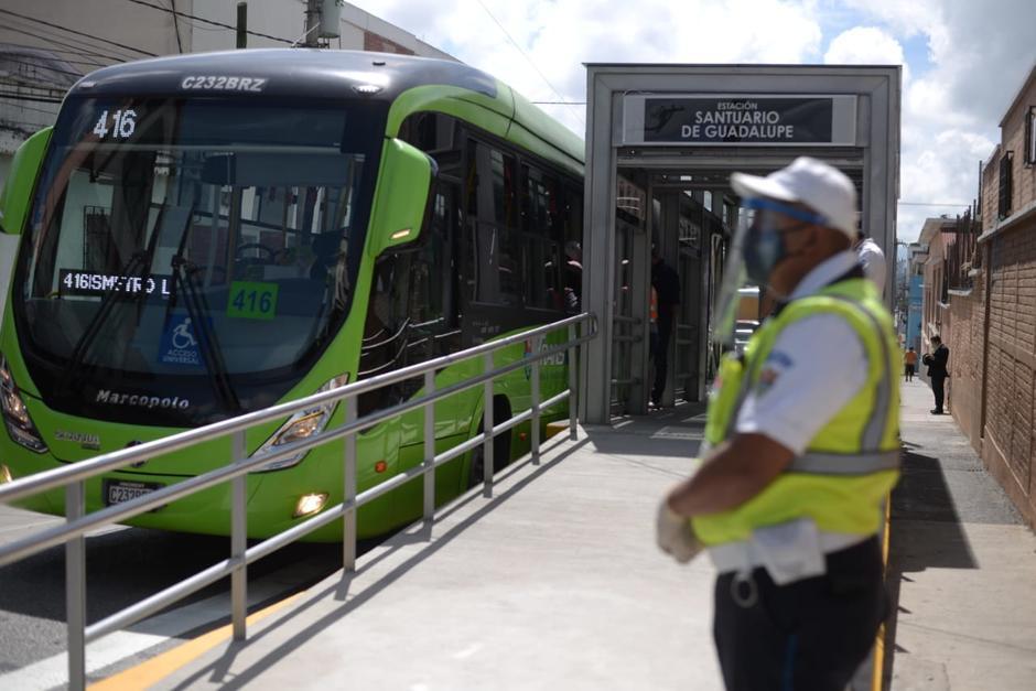 La estación del Santuario de Guadalupe beneficiará a otro sector de usuarios de la zona 1. (Foto: Wilder López/Soy502)