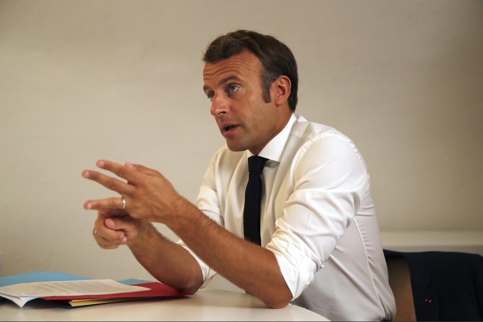 El presidente de Francia, Emmanuel Macron, reaccionó en sus redes sociales por el asesinato de un activista francés en Guatemala. (Foto: AFP)
