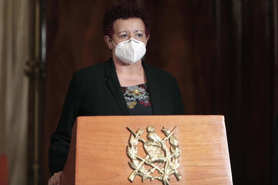 La ministra de Salud, Amelia Flores, participó en la inauguración de un Centro de Atención Permanente en Cantel, Quetzaltenango. (Foto: Presidencia)
