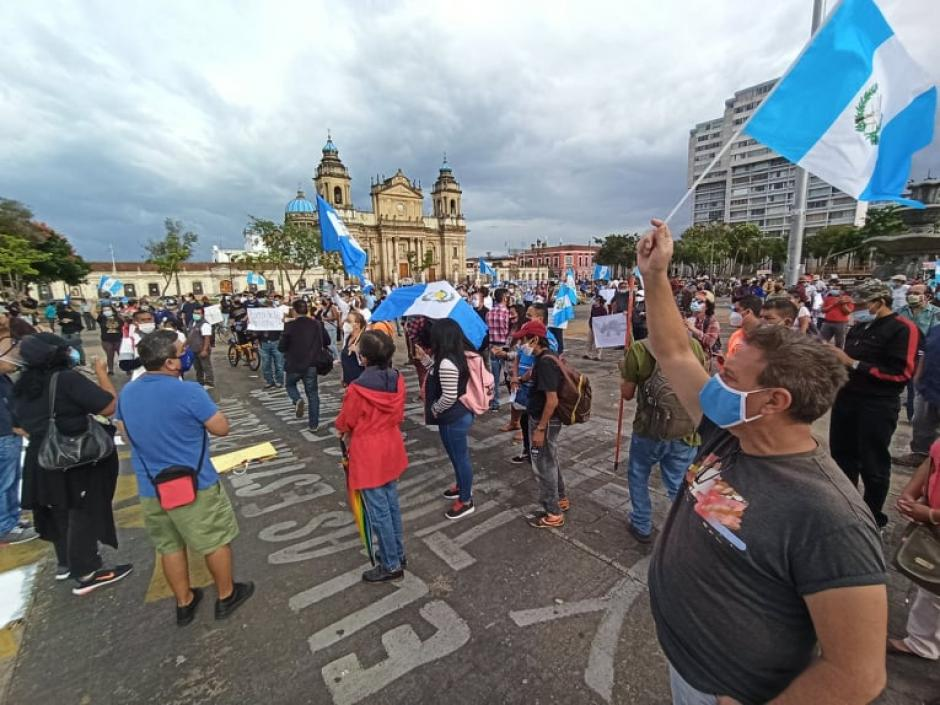 La manifestación se efectuó pese a las restricciones por el riesgo de contagios de Covid-19. (Foto: Wilder López/Soy502)