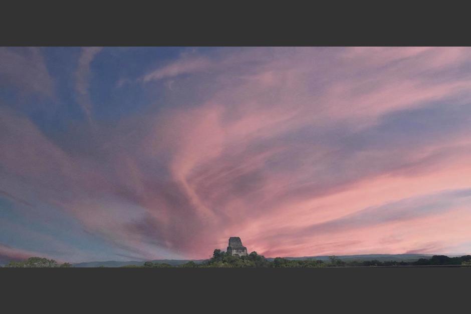 Así amaneció Tikal este sábado. (Foto: Parque Nacional Tikal)