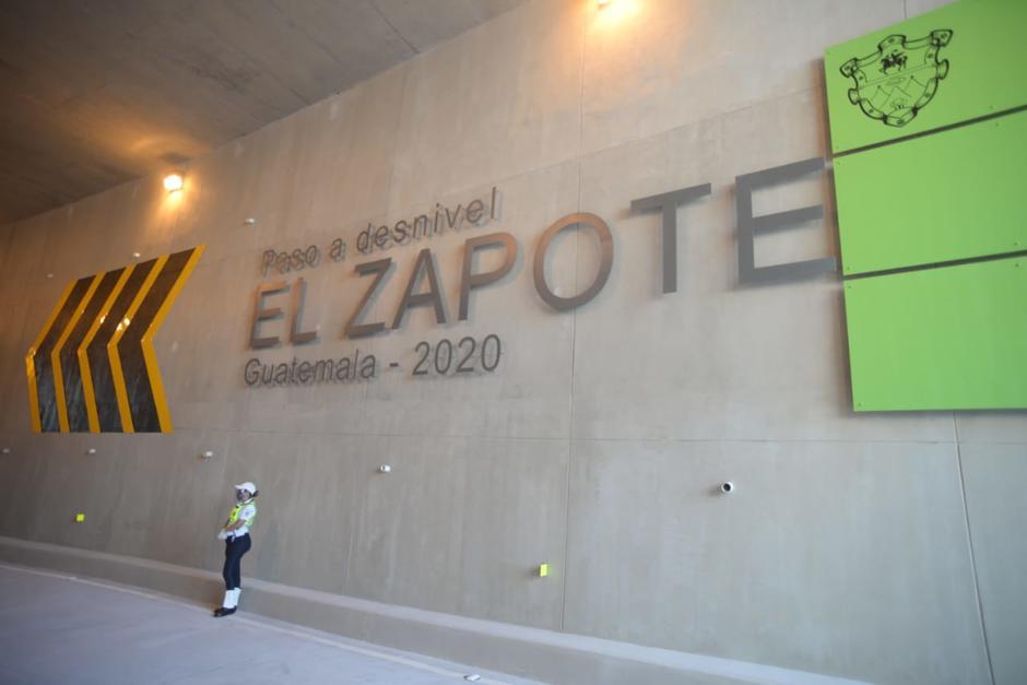 El nuevo paso a desnivel conectará a los automovilistas hacia la finca El Zapote. (Foto: Wilder López/Soy502)