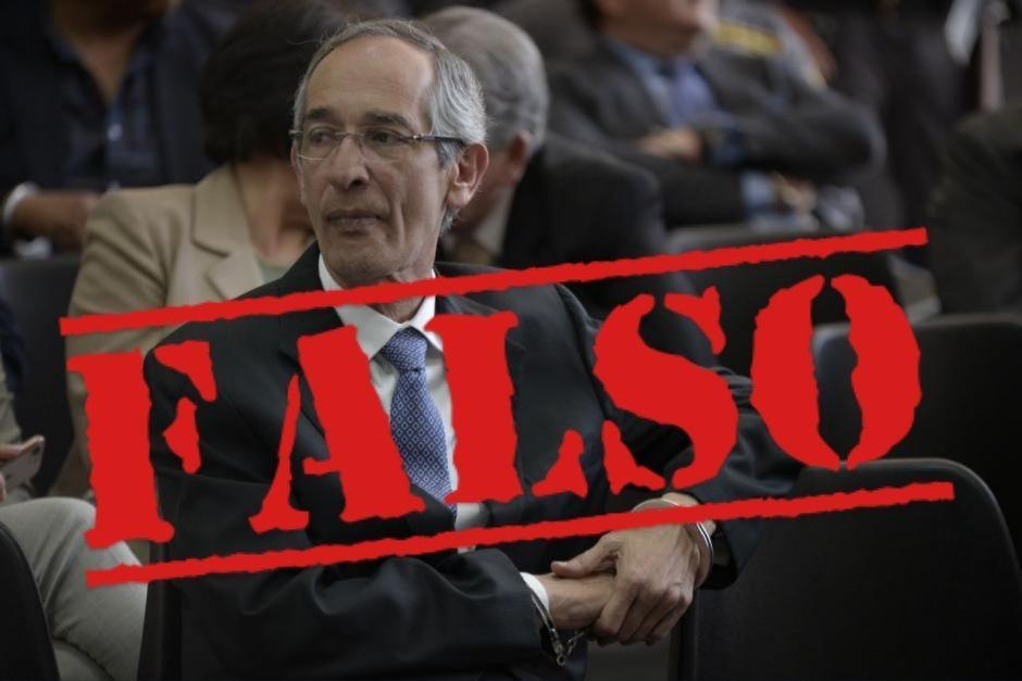 En redes sociales circula información falsa sobre la salud del expresidente Álvaro Colom. (Foto: Wilder López/Soy502)