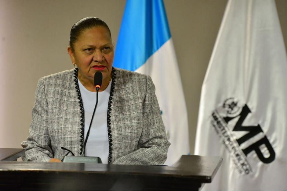 Consuelo Porras, fiscal General del Ministerio Público, ofrecerá una conferencia de prensa este lunes. (Foto: Archivo/Soy502)