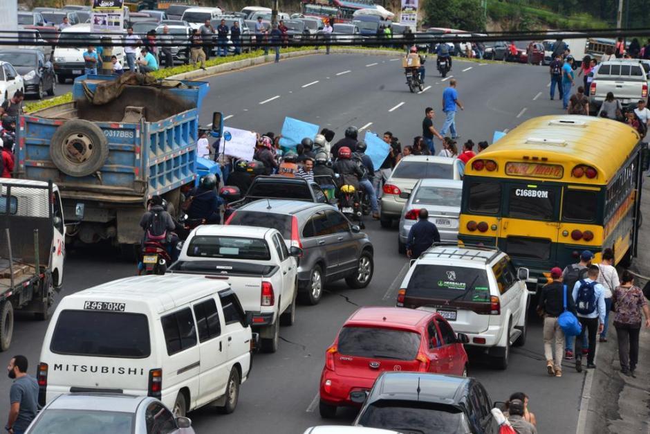 El bloque se realizará en el kilómetro 14.5 ruta al Pacífico. (Foto: Archivo/Soy502)