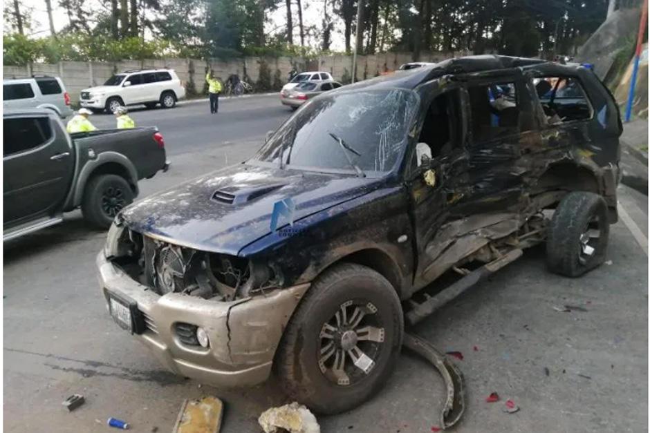 Así quedó el vehículo tras el impacto con el camión. (Foto: Noticias Como Son)