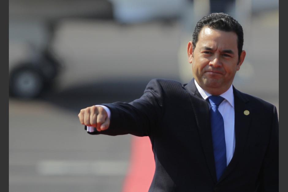 El, aún presidente, Jimmy Morales ofreció una conferencia de prensa antes de entregar su cargo este martes. (Foto: Archivo/Soy502)