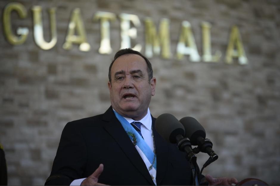 Alejandro Giammattei presentó a Alfonso Quiñónez como nuevo embajador de Guatemala en Estados Unidos. (Foto: Wilder López/Soy502)