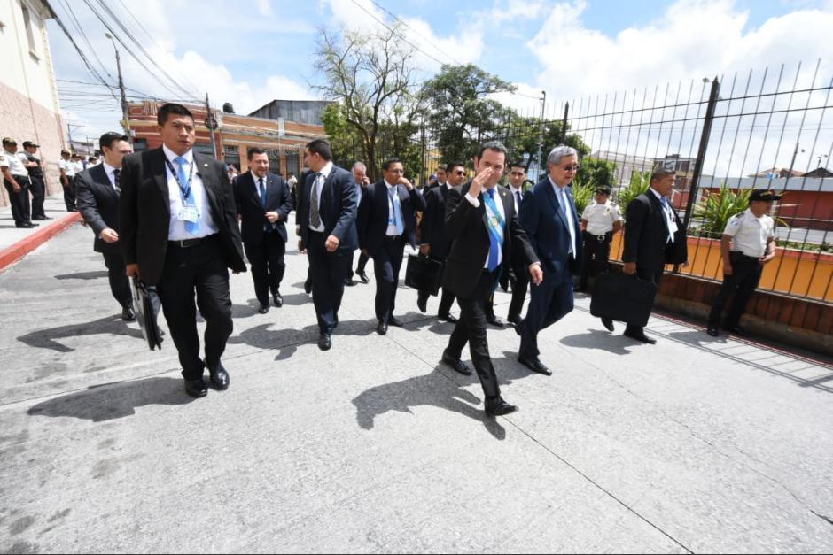 El expresidente Jimmy Morales contará con 18 agentes de seguridad para su servicio. (Foto: Archivo/Soy502)
