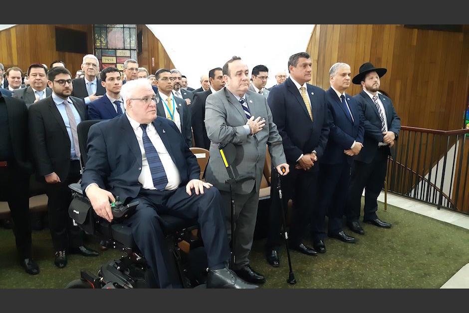 El presidente Alejandro Giammattei asistió a una ceremonia religiosa con la comunidad judía. (Foto: AGN)
