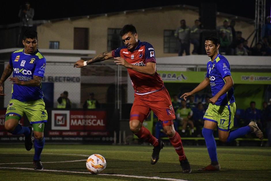 Municipal anotó el gol de la victoria ante Mixco al minuto 16. (Foto: Rudy Martínez/Soy502)