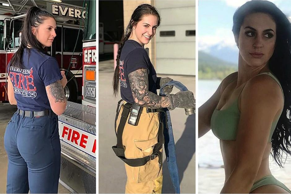 """La joven fue blanco de ataques por cómo lucía en su uniforme de gimnasio y su traje de bombera ya que """"desacredita"""" al departamento. (Foto: Instagram)"""