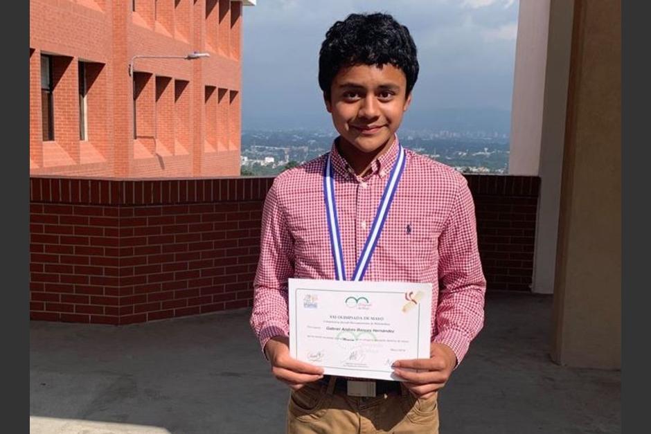 Gabriel Bances Hernández representó a Guatemala en el torneo y obtuvo el máximo galardón. (Foto: Colegio Suizo Americano)