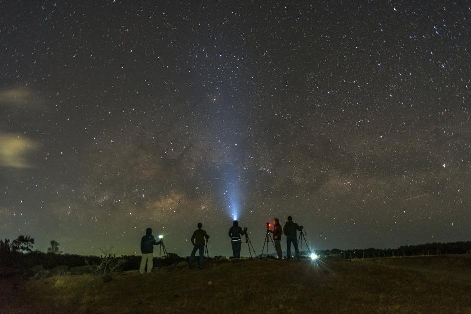 Esta impresionante fotografía de la Vía Láctea cautivó a miles de guatemaltecos. (Foto: David Rojas)