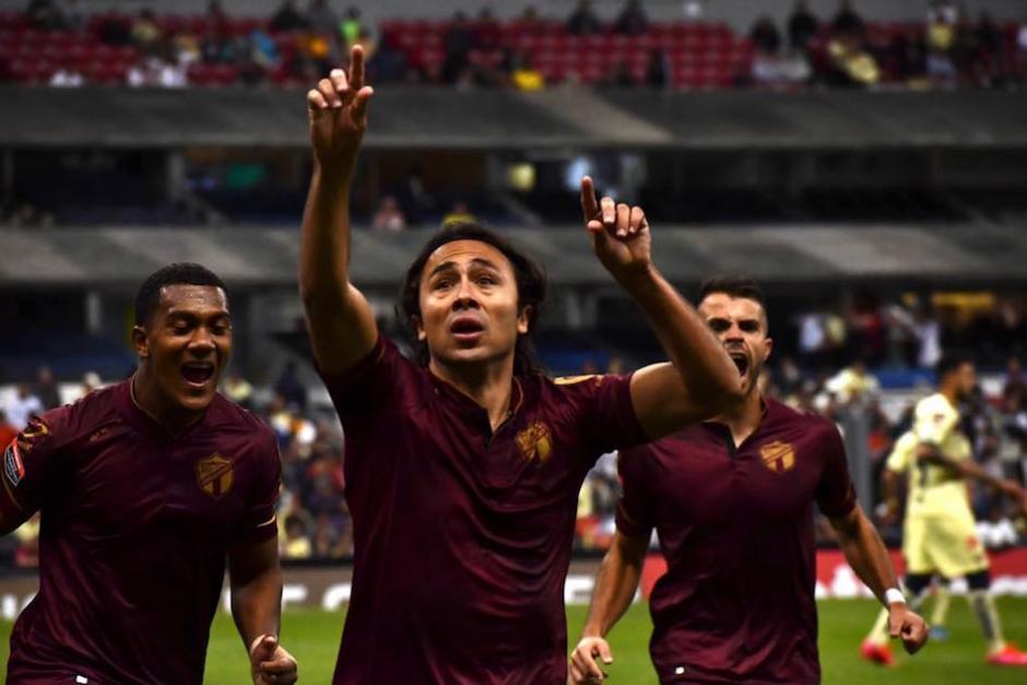 Agustín Herrera celebra el gol. (Foto: Rudy Martínez/Soy502)