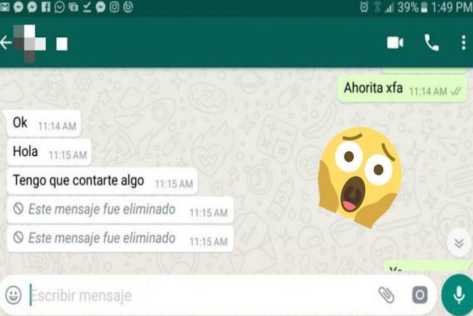 Para leer los mensajes eliminados de WhatsApp debes usar una aplicación (Foto: El Heraldo)
