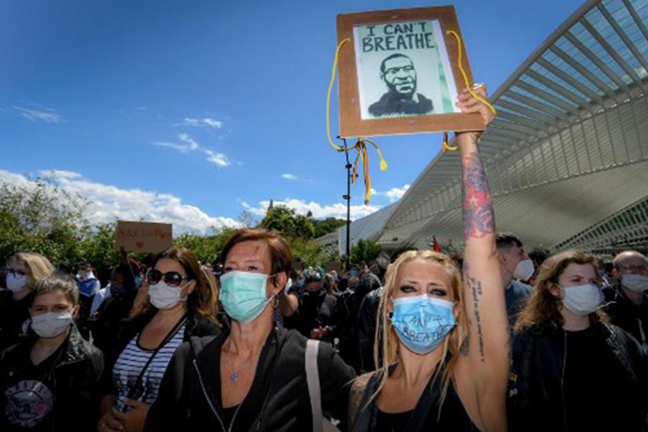 Las protestas también se hicieron presentes en Bélgica (Fotografía: AFP)