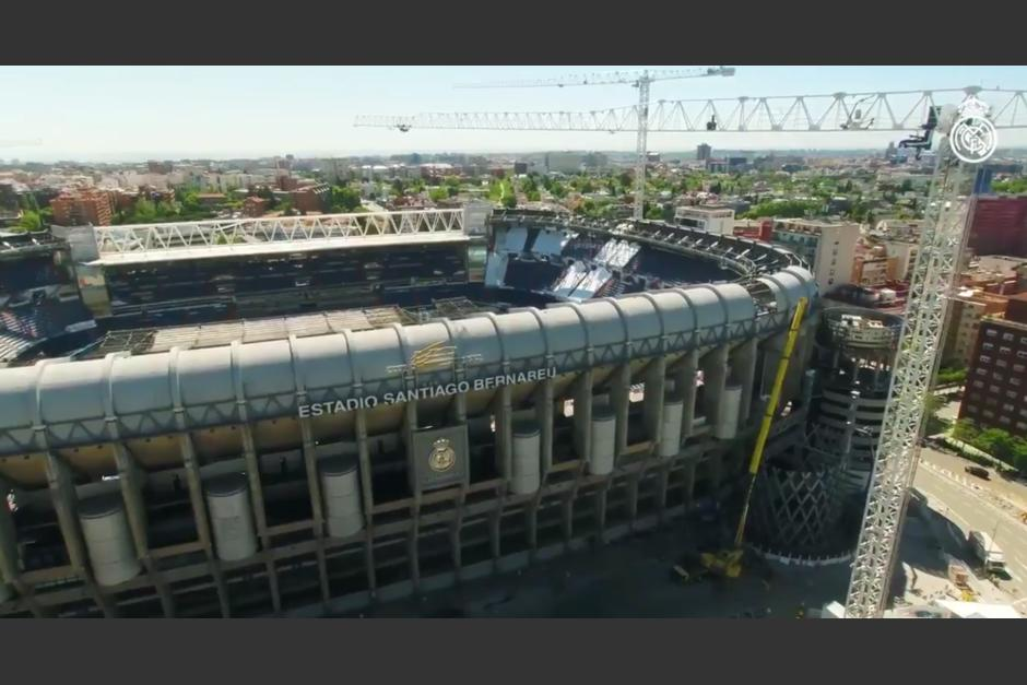 Un video muestra los avances en la remodelación del estadio del Real Madrid. (Foto: captura video)