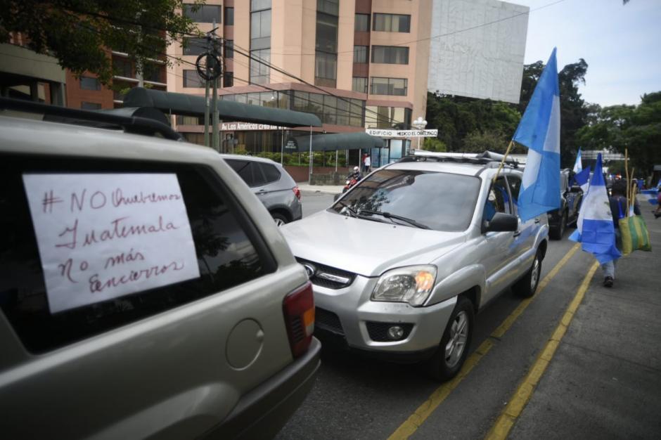 La caravana saldrá a zona 1. (Foto: Wilder López/Soy502)