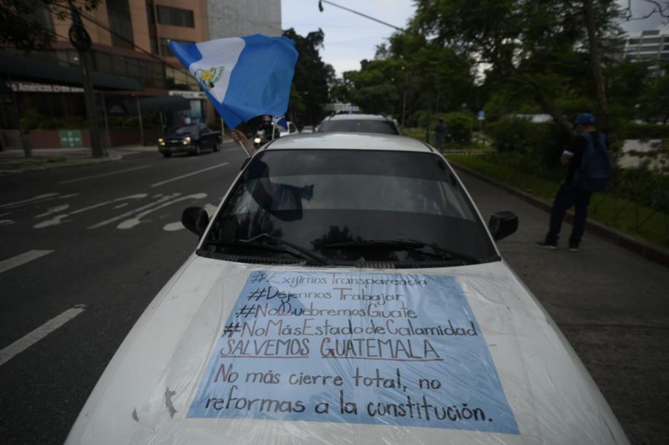 Además piden poner fin a la circulación por placas. (Foto: Wilder López/Soy502)