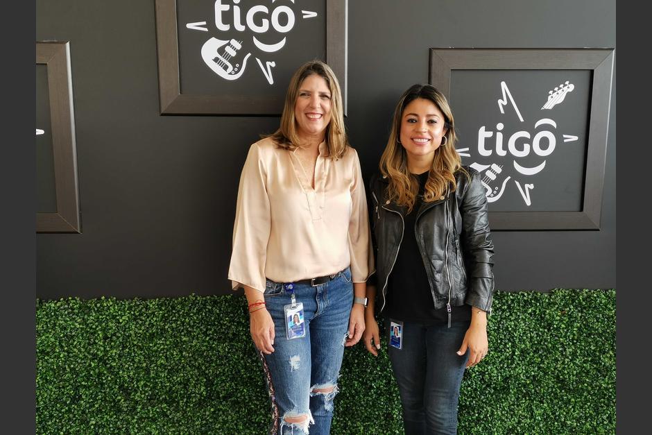 Representantes de Tigo, durante la presentación. (Foto: Fernando Pinetta)