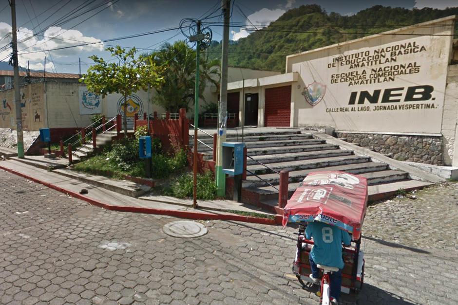 Instituto Nacional de Educación Básica (INEBA-ENCA) de Amatitlán. (Foto Google Maps)