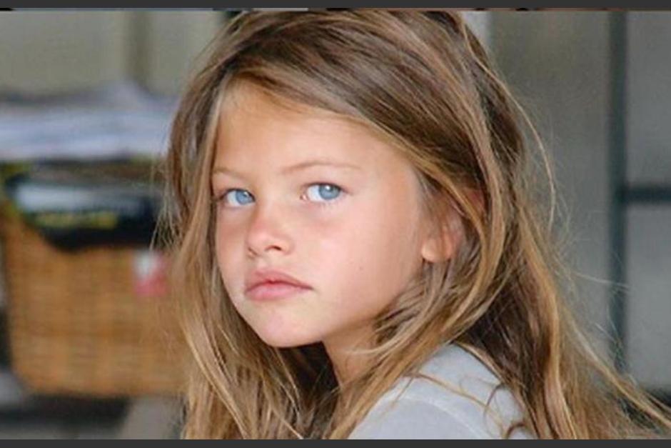 Thylane Blondeau de niña (Foto Instagram)