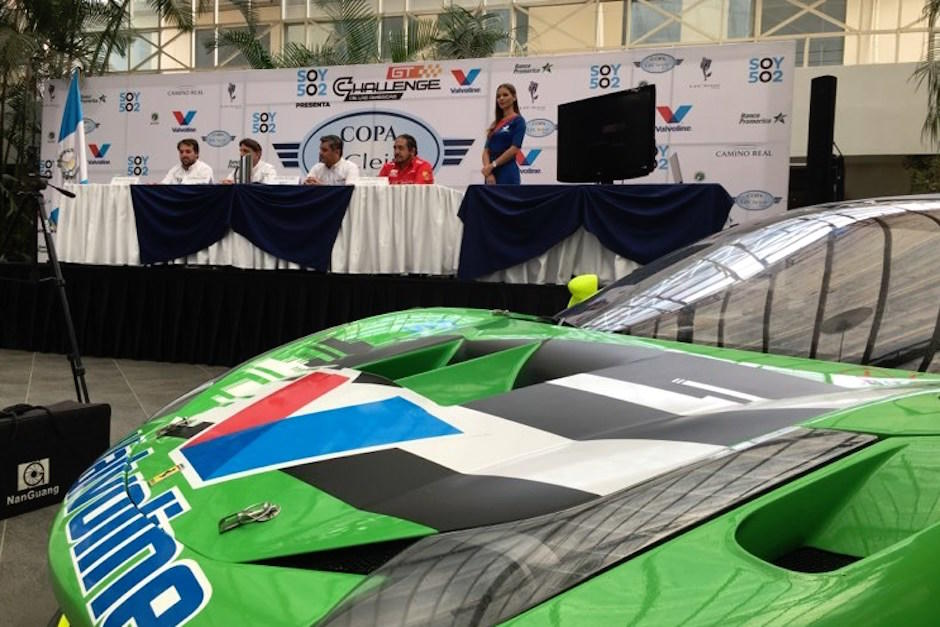 En Conferencia de prensa fue presentda la segunda fecha del GT Challenge de las Américas 2020 que se correrá en Guatemala. (Foto: Luis Barrios/Soy502)