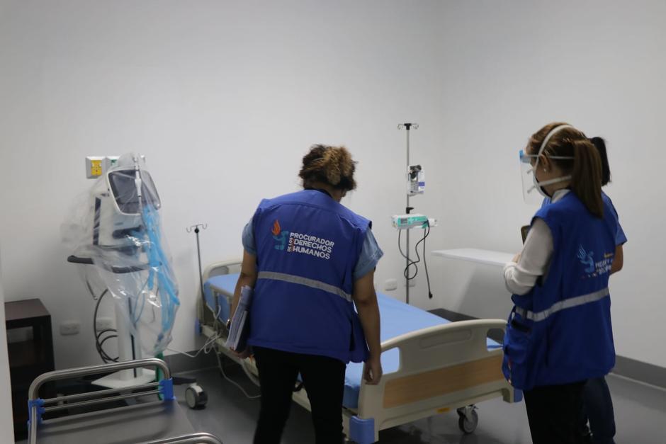 En el hospital temporal del Parque de la Industria se atiende a 240 pacientes de Covid-19. (Foto: PDH)