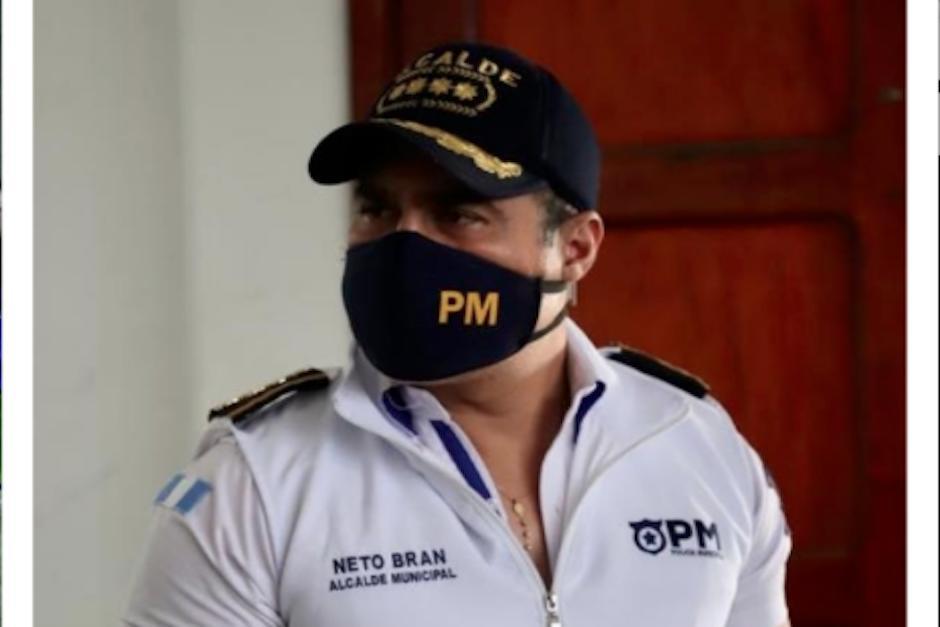 Neto Bran, alcalde de Mixco, volvió a criticar al presidente Alejandro Giammattei, esta vez por el intenso tráfico de este día. (Foto: Twitter)