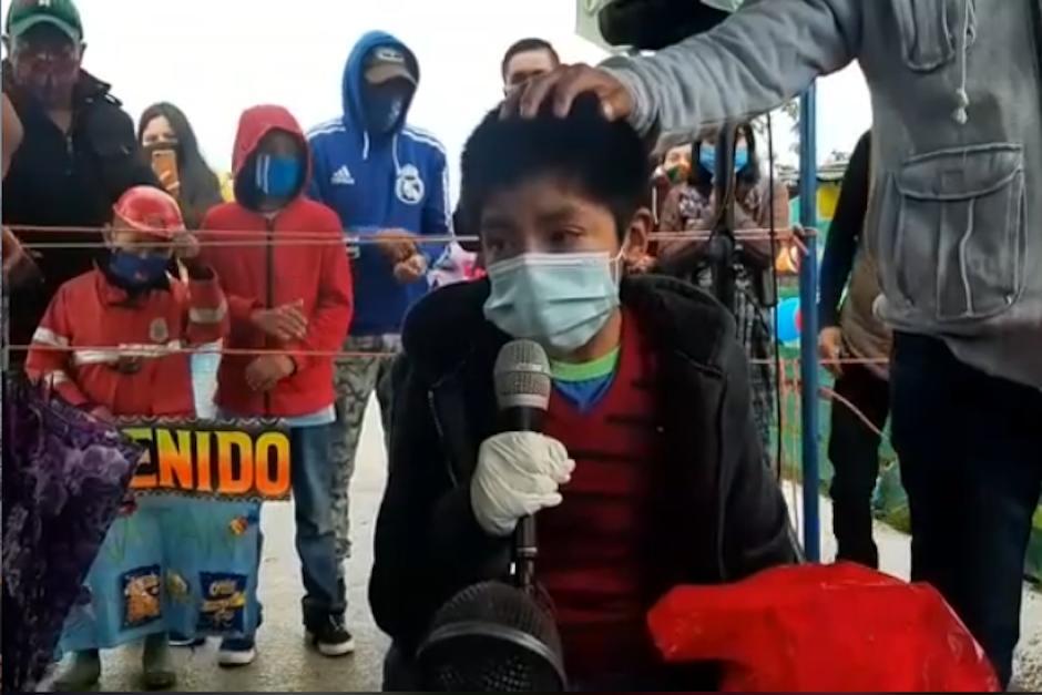 Las emotivas palabras de un niño que venció al Coronavrius conmueven a miles en el mundo. (Foto: Captura de video)