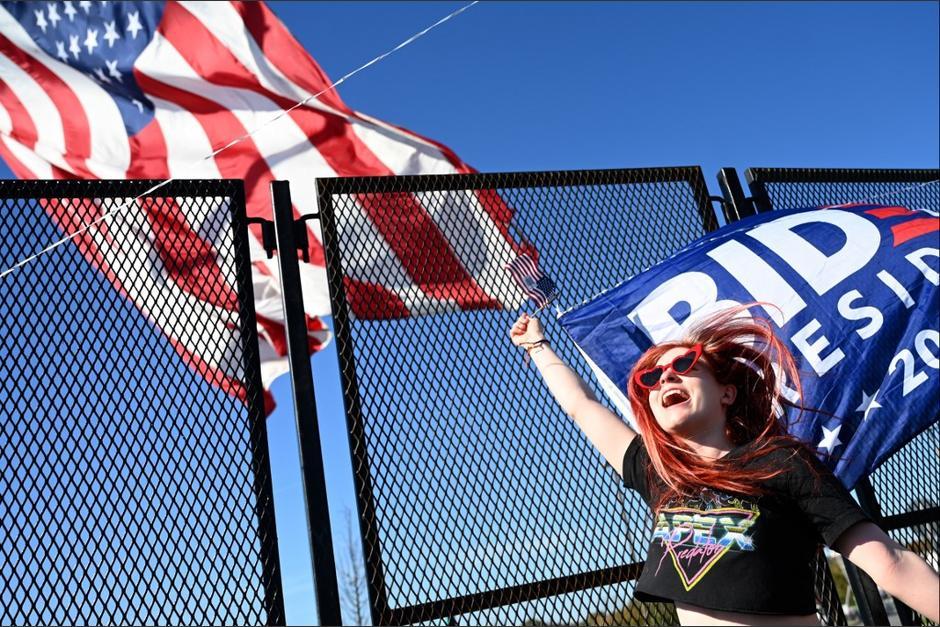 Celebran el triunfo de Joe Biden. (Foto: AFP)