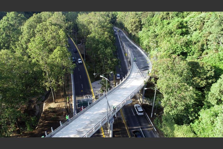 La inversión para este paso a desnivel fue de Q12.3 millones. (Foto: Municipalidad de Guatemala)