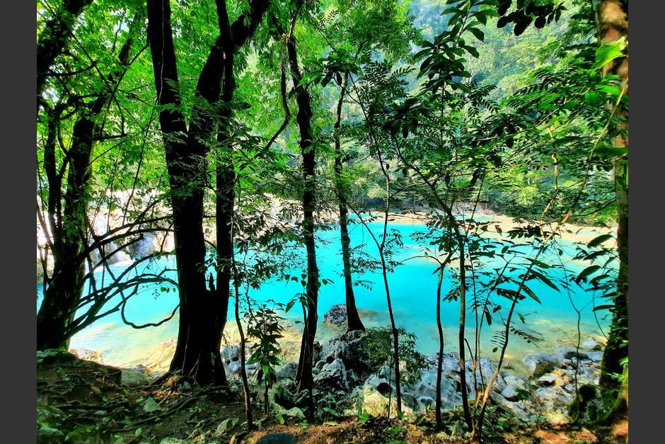 Las pozas del parque Semuc Champey habían perdido su color natural debido a un alga. (Foto: Cortesía)