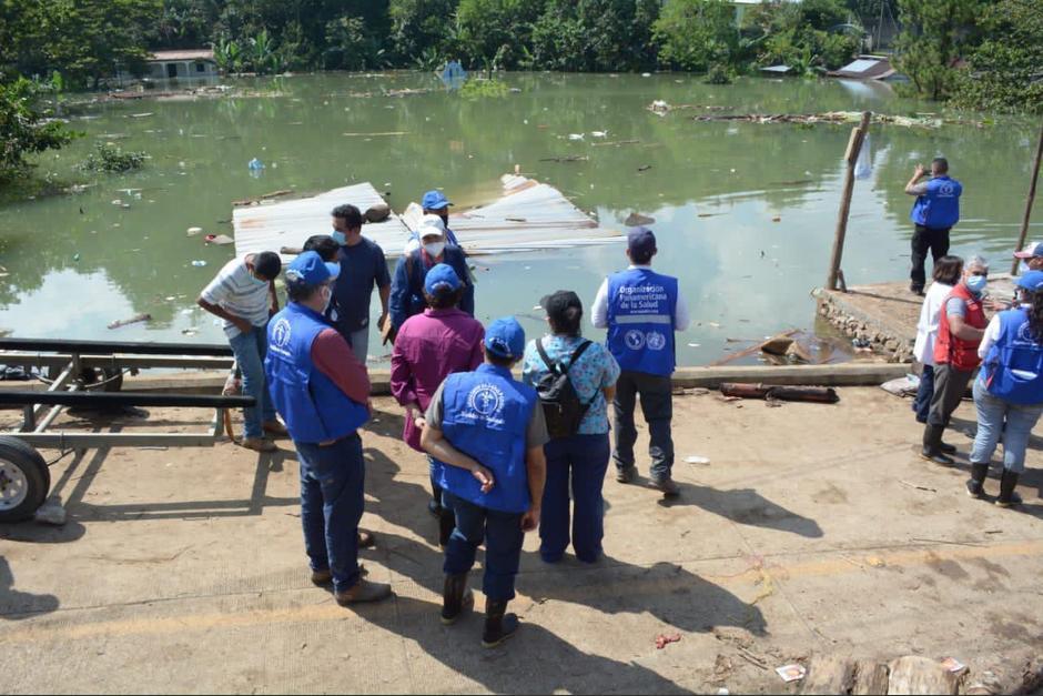 Al menos 30 centros y puestos de salud resultaron afectados por la depresión tropical Eta. (Foto: MSPAS)