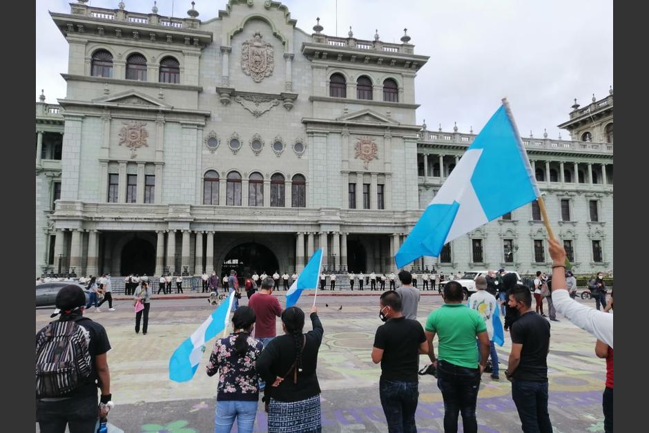El Palacio Nacional de la Cultura está resguardado por agentes de la PNC. (Foto: Gustavo Méndez/Soy502)
