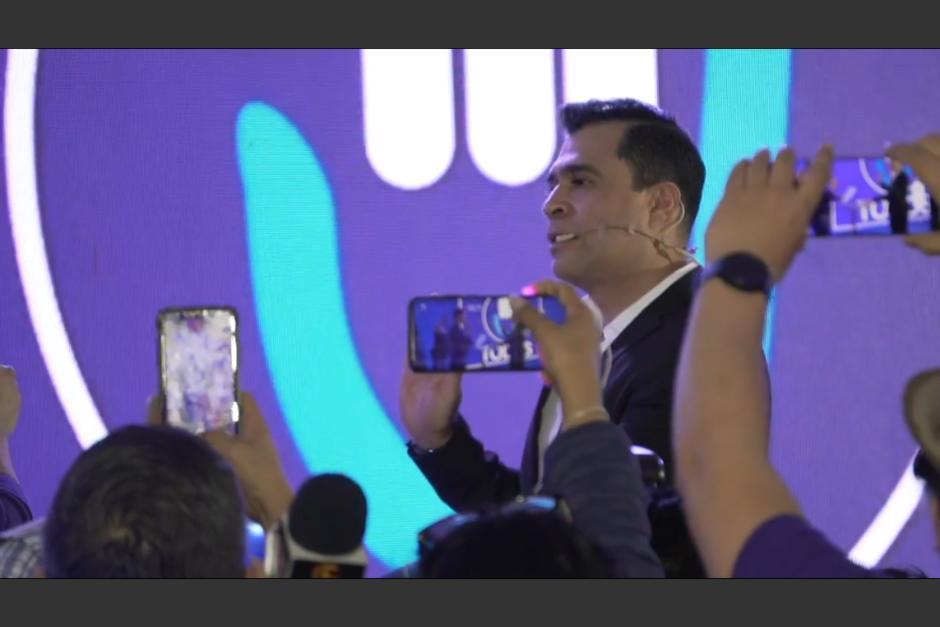 El alcalde de Mixco fue electo como nuevo secretario general del partido Todos. (Foto: captura de video)