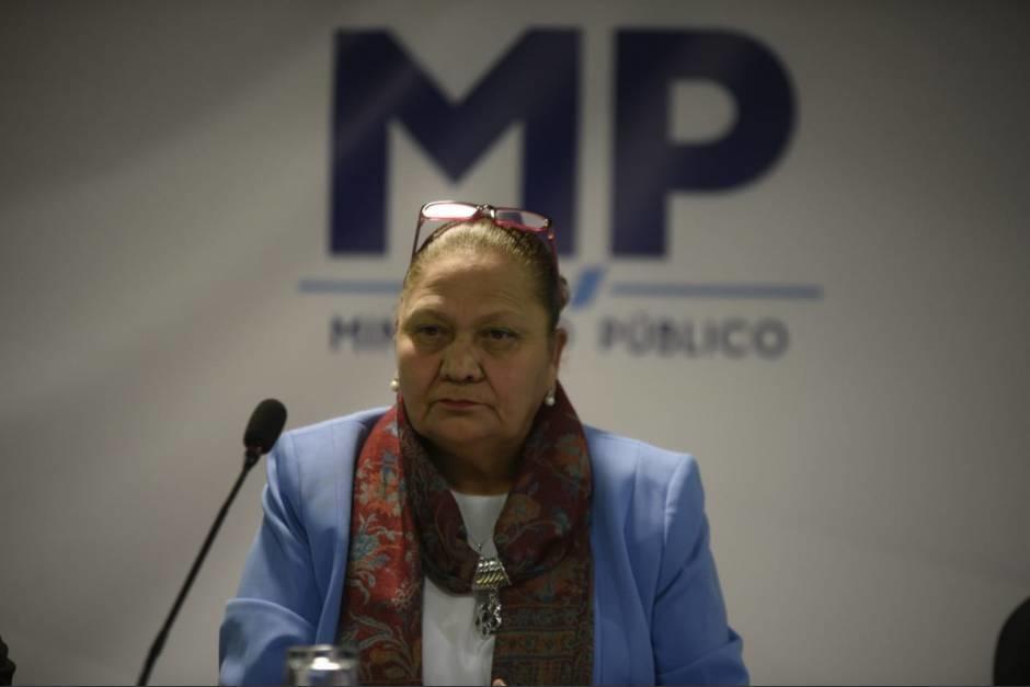 La fiscal General Consuelo Porras ofreció una conferencia de prensa por los últimos acontecimientos del país. (Foto: MP)