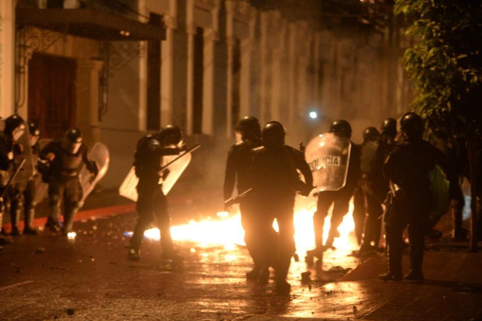 La PNC capturó a 43 personas y más de 60 resultaron lesionados y heridos. (Foto: Wilder López/archivo/Soy502)